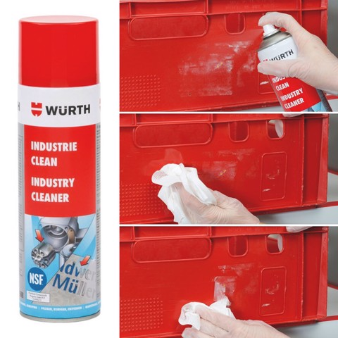 Dung Dịch Tẩy Keo, Decal Chuyên Dụng Wurth Industry Cleaner 500ml