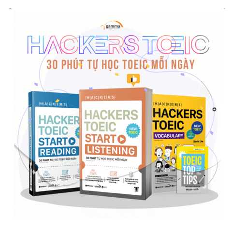 COMBO Hackers TOEIC (3 cuốn)