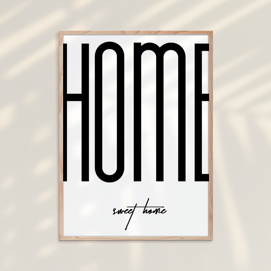 Tranh Typography 23 - Tranh Khung Kính