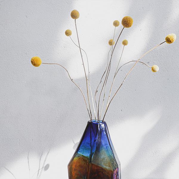 Bình Hoa Thủy Tinh Inlaid Pearl Vase