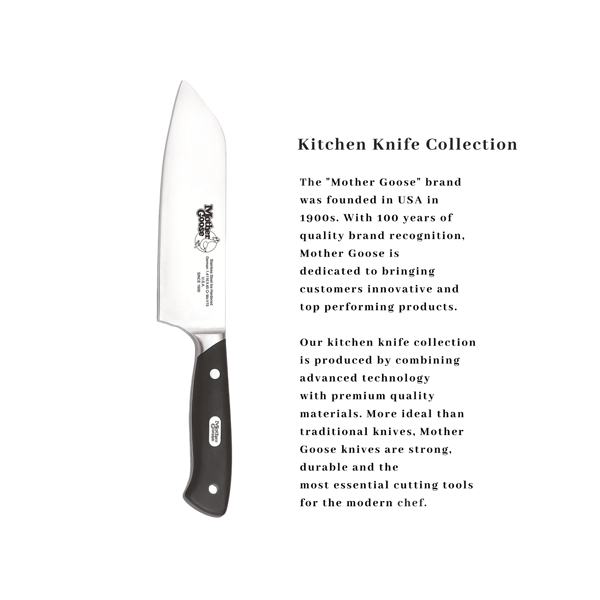 MOV STEEL SANTOKU KNIFE 6.5 INCH