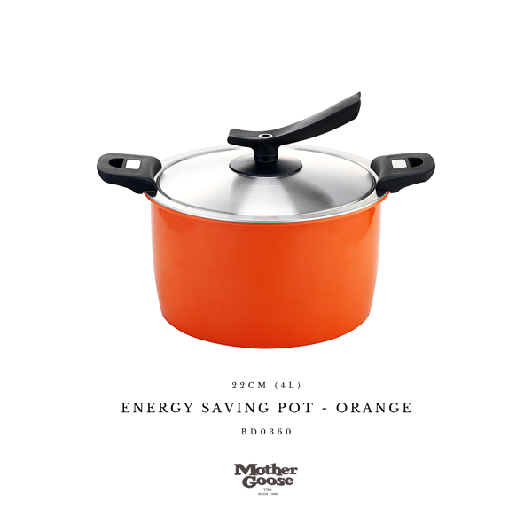 ENERGY SAVING POT-ORANGE 22CM