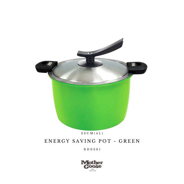ENERGY SAVING POT-GREEN 22CM