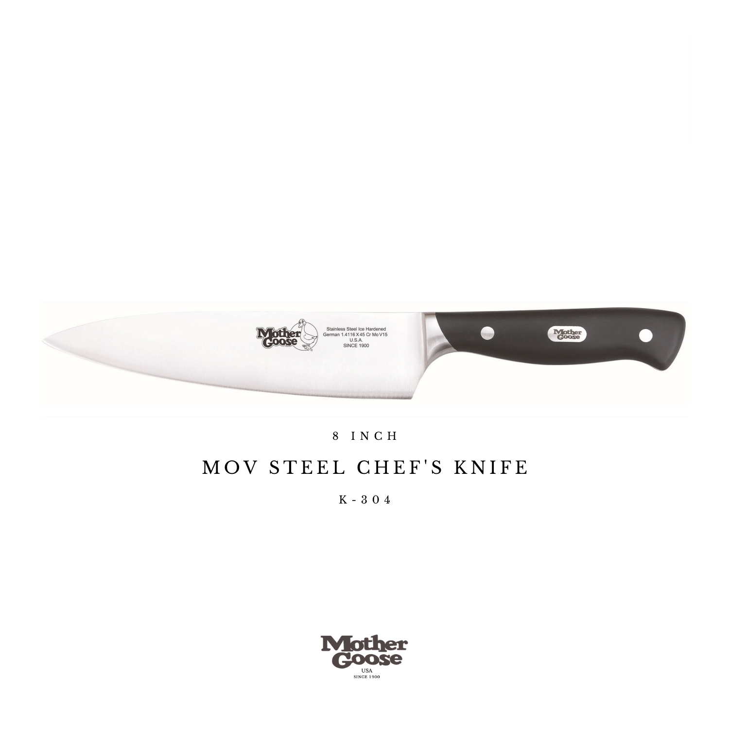 MOV STEEL CHEF'S KNIFE 8 INCH