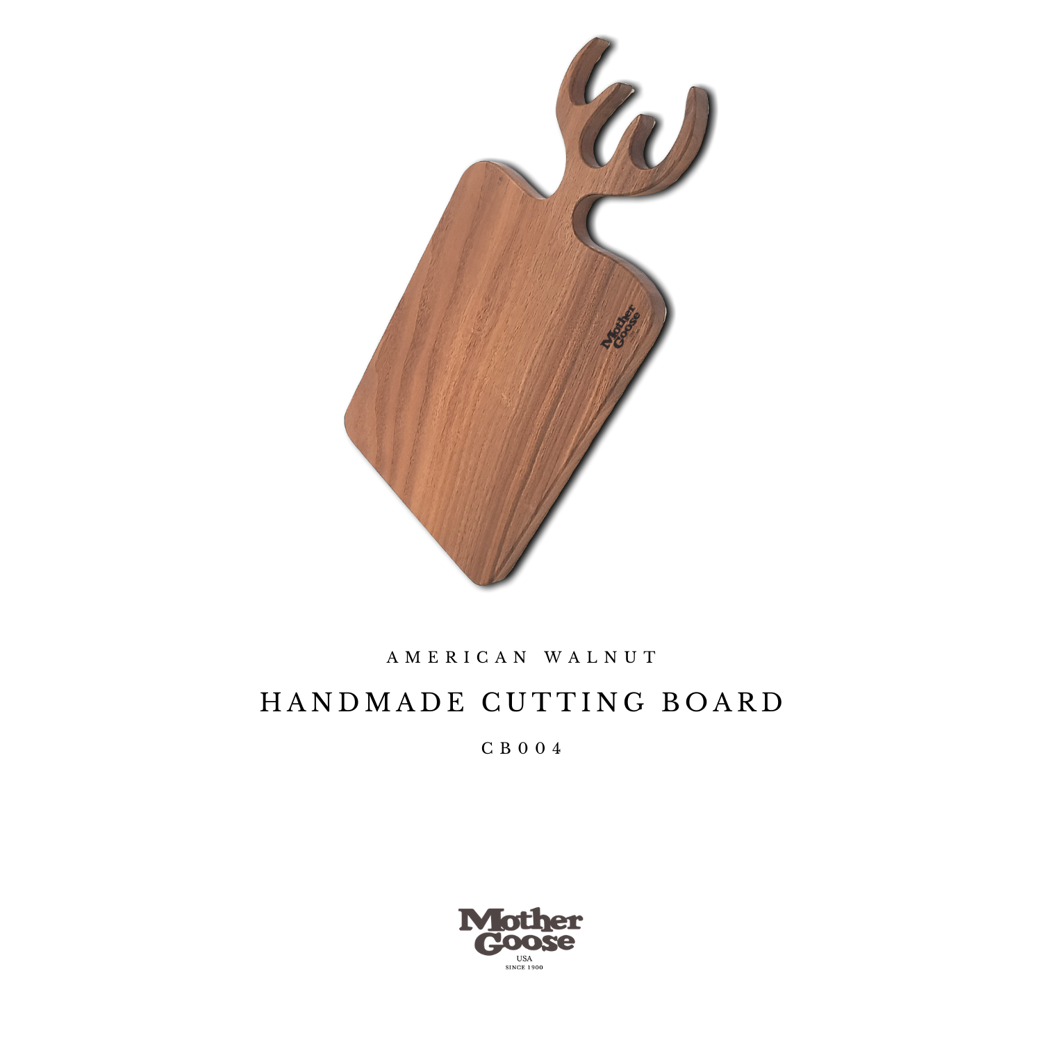 WALNUT CUTTING & SERVING BOARD - ANTLER