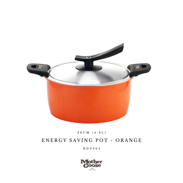 ENERGY SAVING POT-ORANGE 26CM