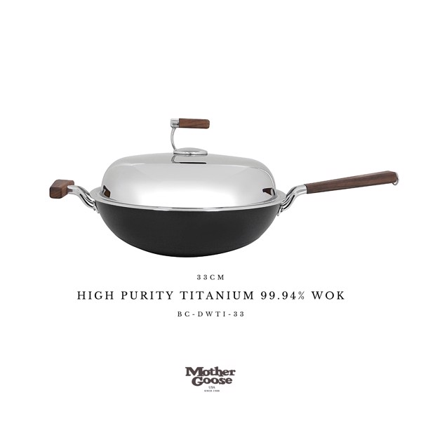 HIGH PURITY TITANIUM 99.94% WOK 33CM