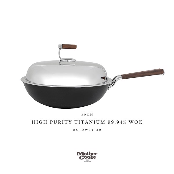 HIGH PURITY TITANIUM 99.94% WOK 30CM