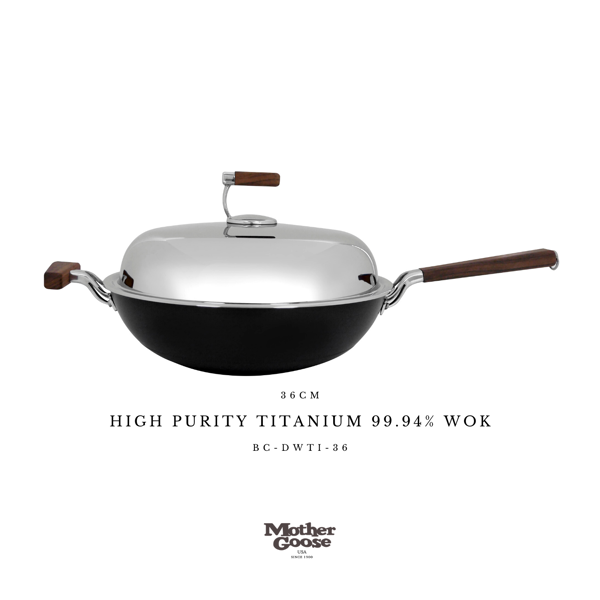 HIGH PURITY TITANIUM 99.94% WOK 36CM