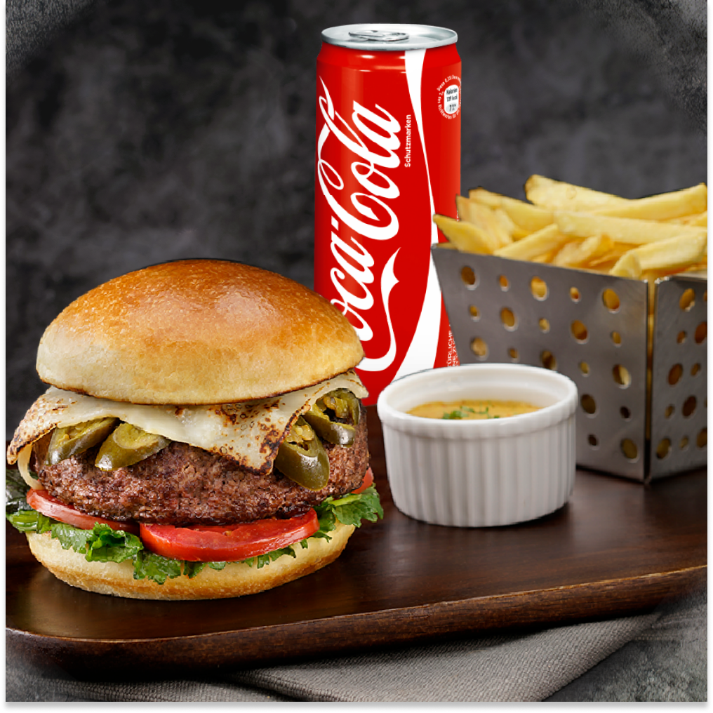 Combo Burger CBJ Saloon