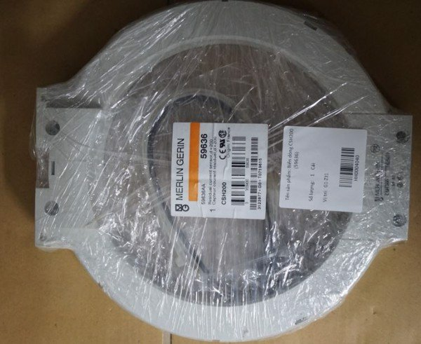 BIẾN DÒNG MODEL CSH200, PART NO: 59636 HÃNG  MERLIN GERIN (SCHNEIDER), MADE IN FRANCE (Core balance current transformer CSH200 - Sepam series 20,40,60,80 - diam. 200mm)