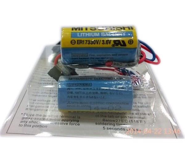 PIN MITSUBISHI NUÔI NGUỒN PLC ( LITHIUM BATTERY) MR BAT ER17330V/3,6V, MITSUBISHI