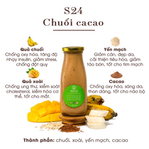 Sinh tố S24 - Chuối cacao