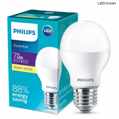 Đèn LED bulb E27 7W Essential G4 - Philips