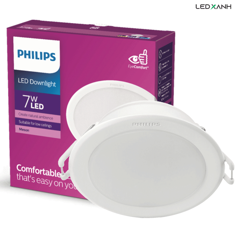 Đèn LED âm trần downlight 7W Meson G3 - Philips