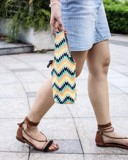 Geometric Waves Canvas One-strap Cup Holder