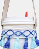 Blue Yellow Tassels Cup Holder