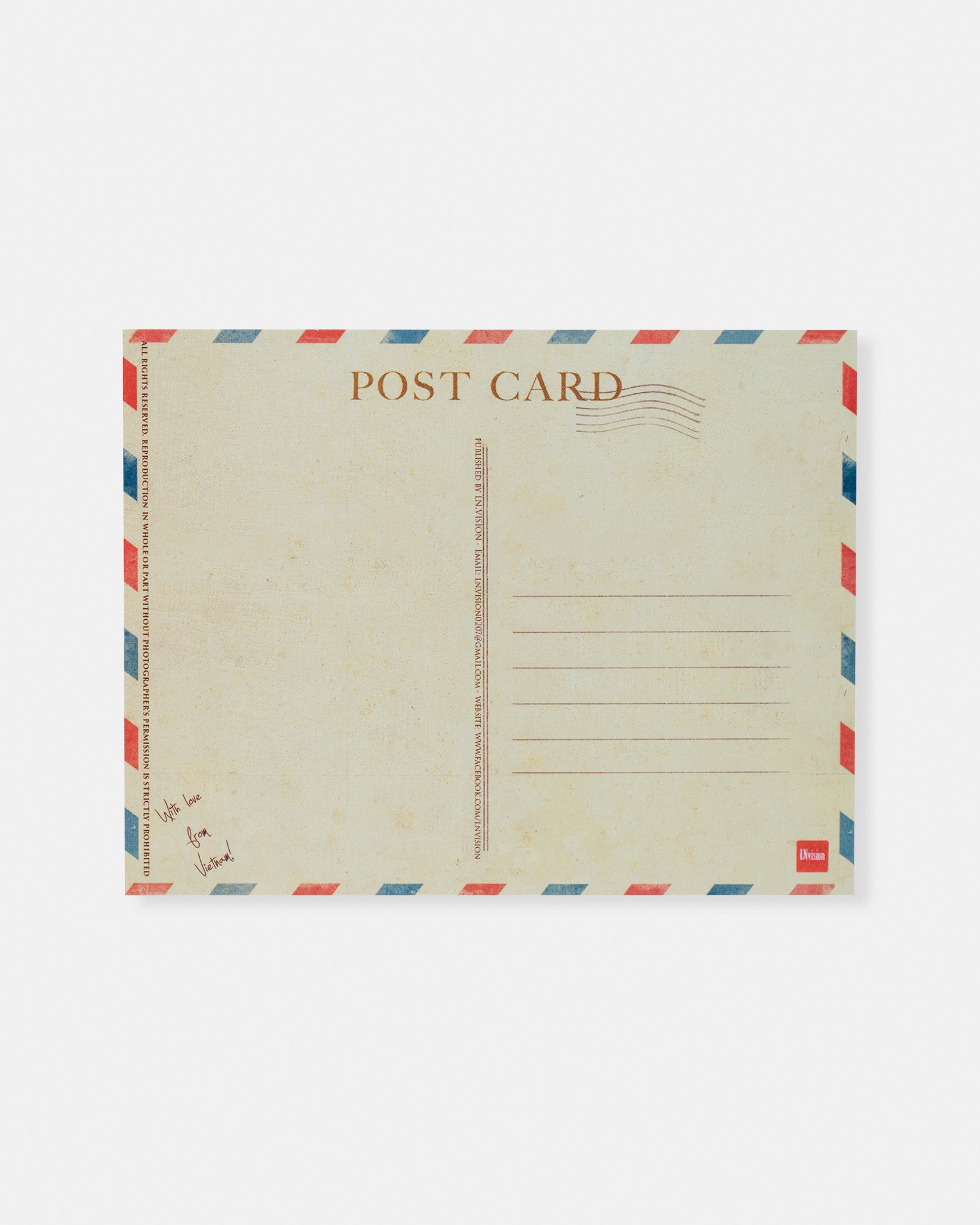 Central Post Office Saigon Postcard