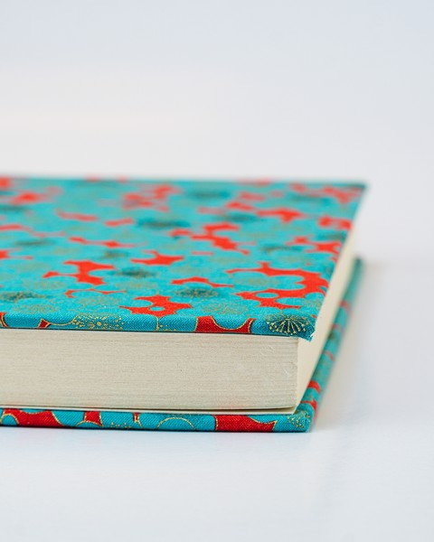 Blue Flower Fabric Notebook