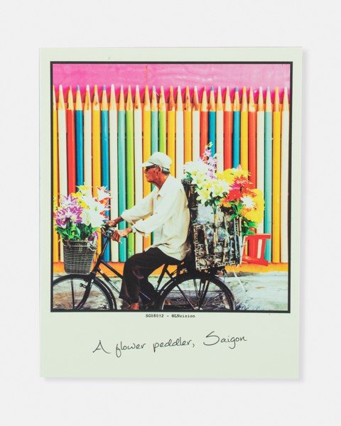 A Flower Peddler, Saigon Postcard