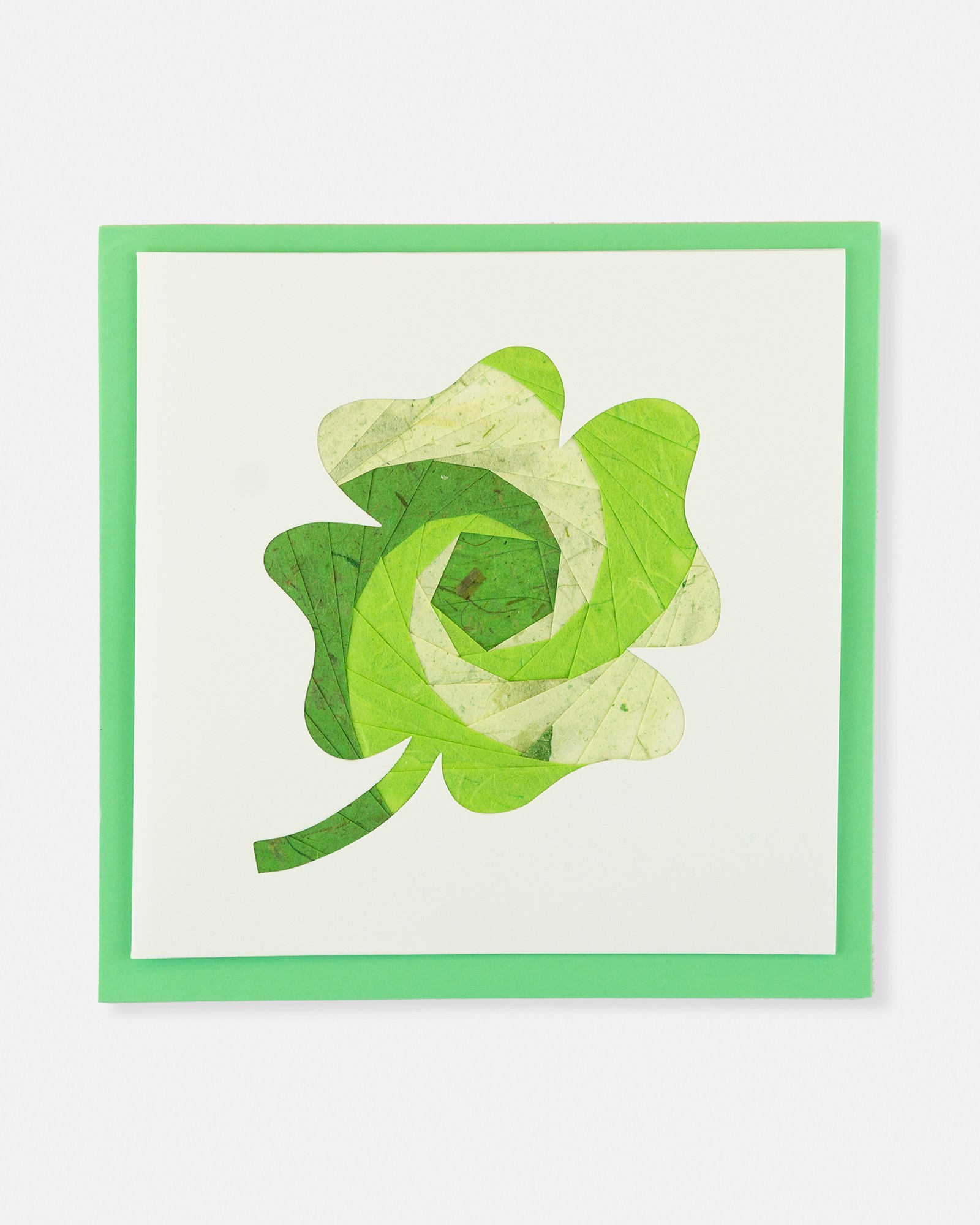 Folded card Clover