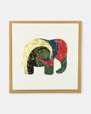 Folded card Mix dark colour elephant