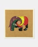 Folded card Mix dark colours elephant (craft paper)