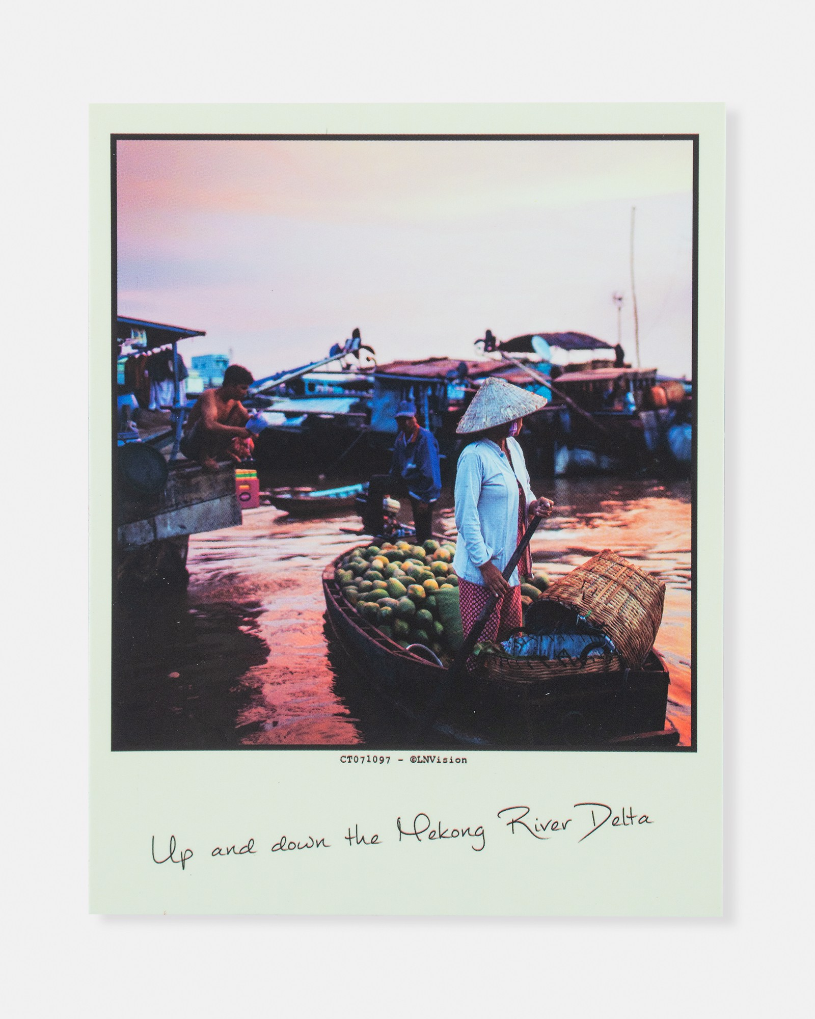 Up And Down The Mekong River Delta Postcard
