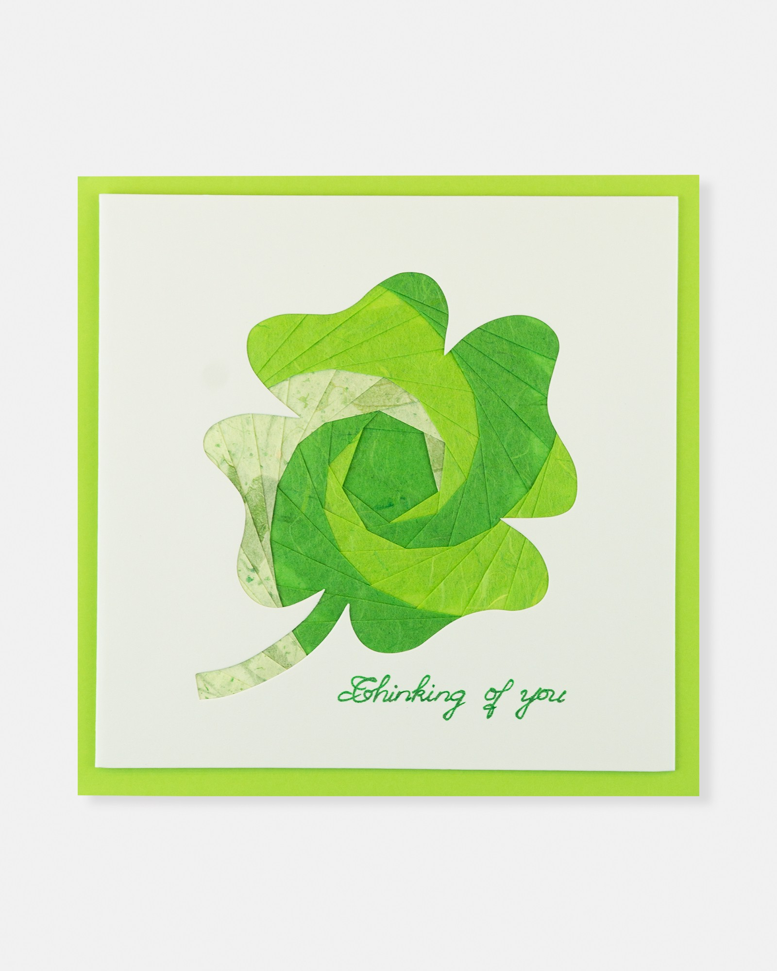 Folded card Clover - Thinking Of You