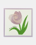 Folded card Happy Birthday (Purple Tulip flower)