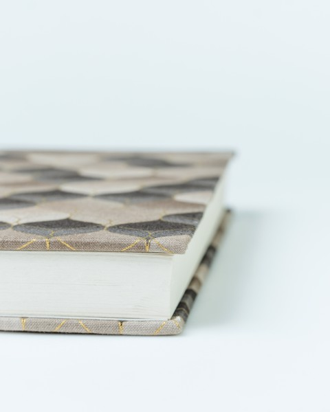 Brown 8 Fabric Notebook
