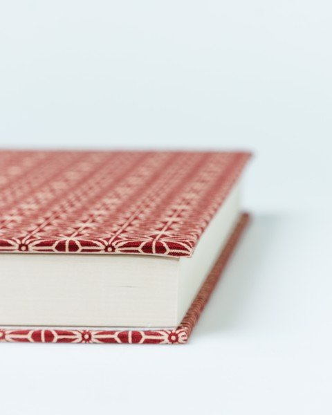 Japanese Red Fabric Notebook