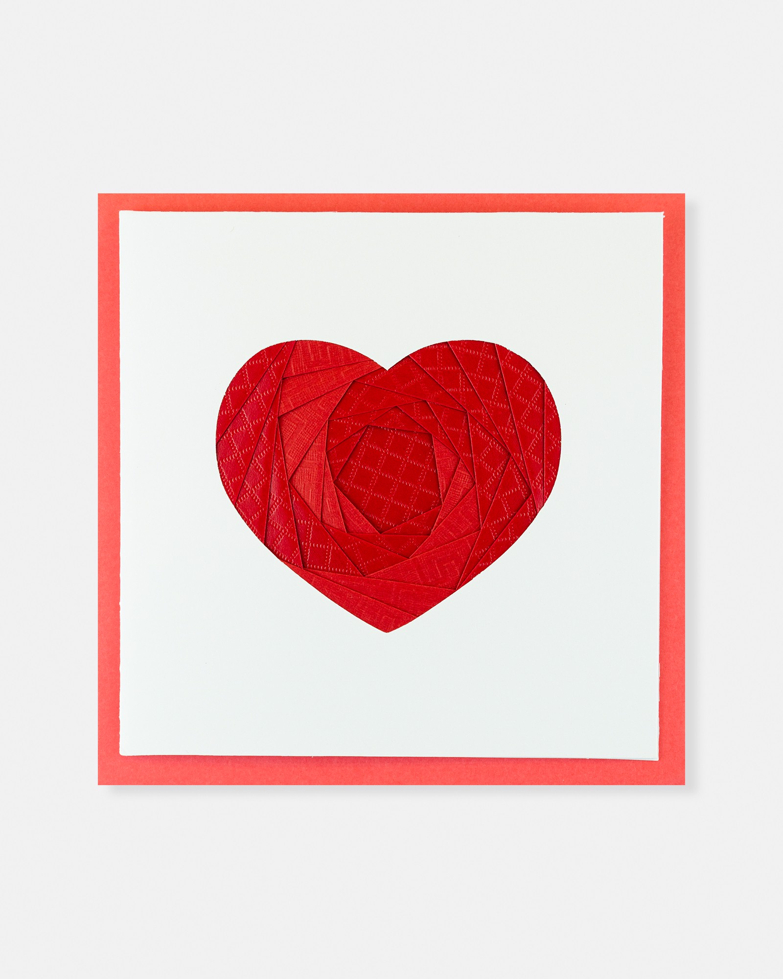 Folded card Red Heart