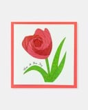 Folded card Have a nice day (Red Tulip flower)