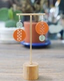 Orange Air Earrings
