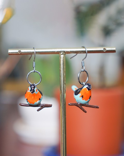 Black Bird Earrings
