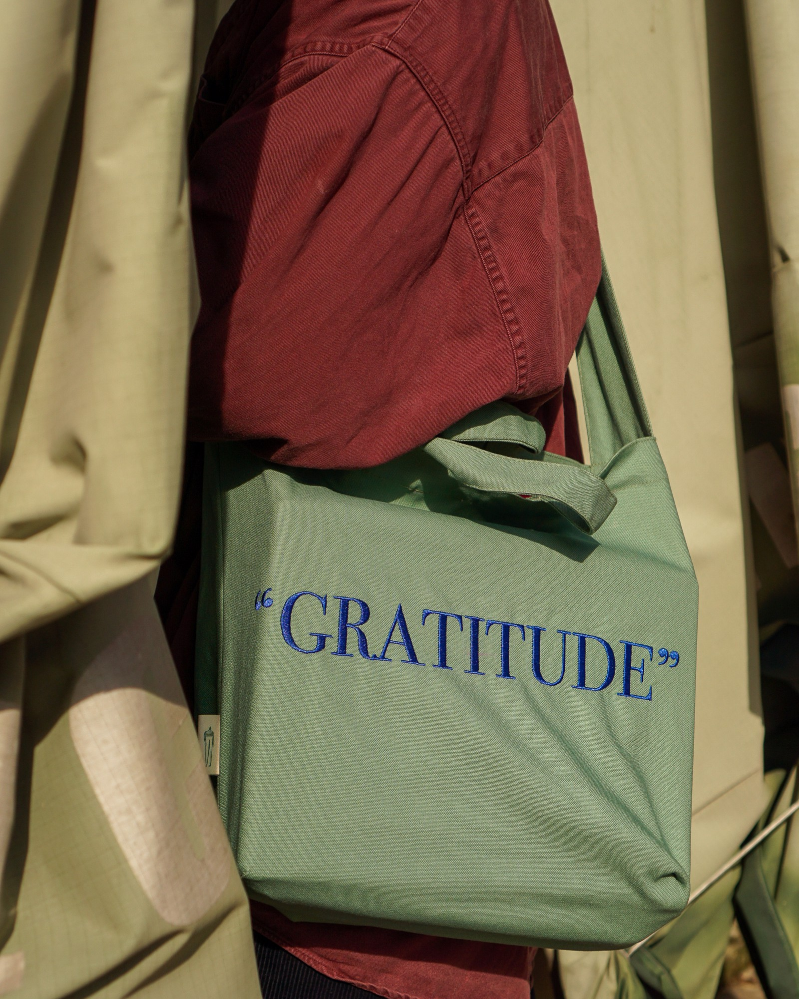 Gratitude Green Tote Bag