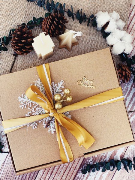 Yellow Snowflake 1 Gift Box