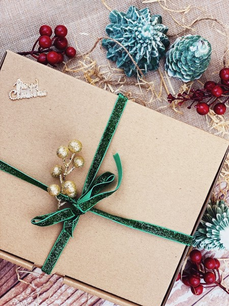 Green Sparkling Gift Box
