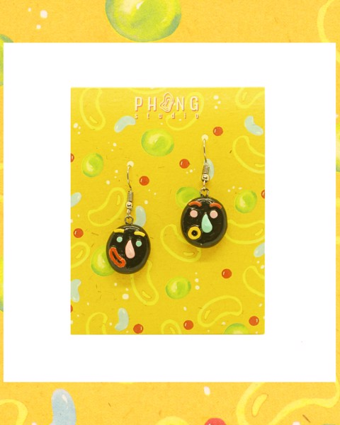 Black Joy Clay Earrings