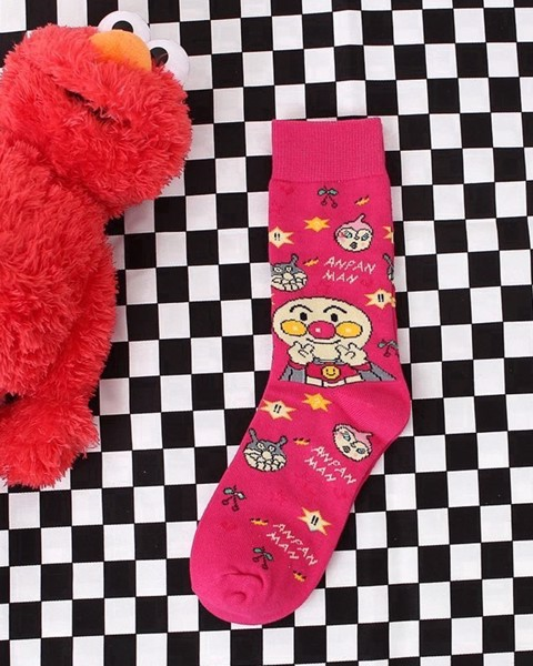 Anpaman (Pink) long socks
