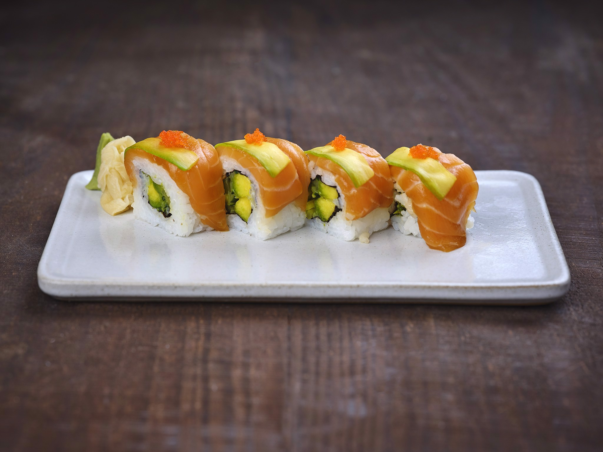 Salmon & Avocado Roll Sushi