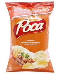 SN-Brazil BBQ Pork Rib Potato Chips Poca 100g
