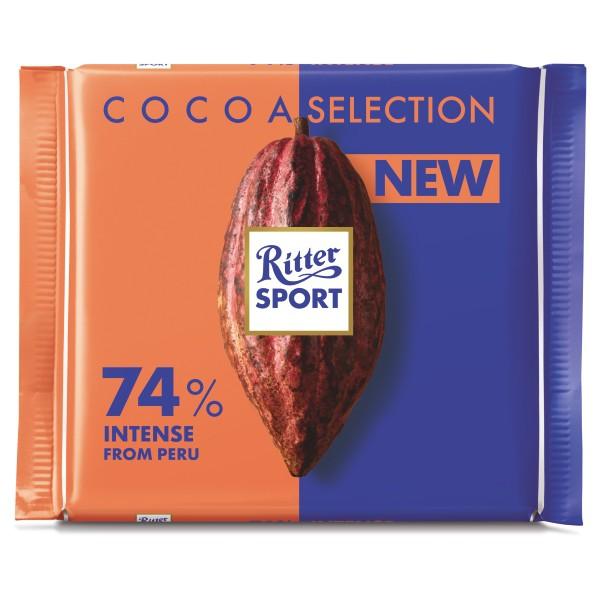 CH-74% Peru Cocoa Intense Chocolate Ritter Sport 100g