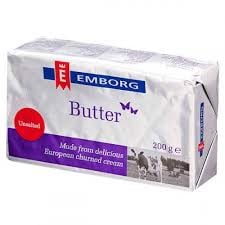DB-Frozen Unsalted Butter Emborg 82% fat 200g