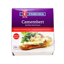 DC-Camembert Soft White Mould Cheese Emborg FIDM 50% 125g