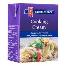 DCW-Cooking Cream Emborg 20% Fat UHT 200ml