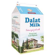 DMP-Non Sugar Pasteurized Milk DalatMilk 450ml