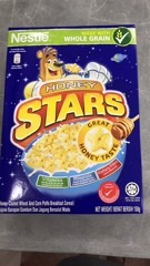 G-Honey Coated Wheat & Corn Puffs Breakfast Cereal Honey Stars 150g