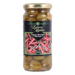 PK-Chilli Stuffed Olives Latino Bella 235g